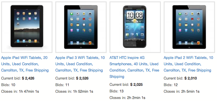 Alltech iPad listings