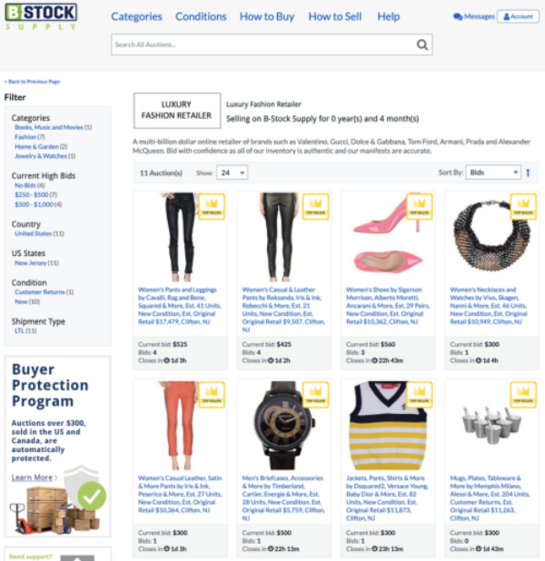 Luxury Retailer Listings Supply